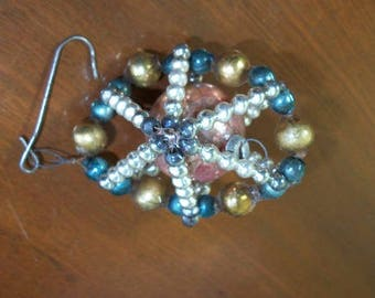 Vintage Antique Glass Beaded Christmas Tree Ornament