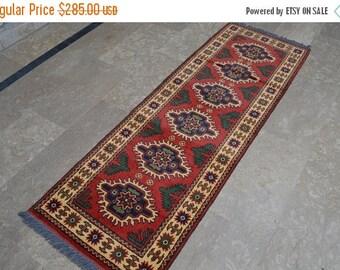 30% DISCOUNT Gorgeous Vintage Afghan Tribal Super Kargai Medallion Runner Rug, Traditional Afghan Runner Carpet >>>DISCOUNTED PRICE