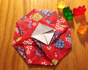 japanese octagon tato: origami envelope or flat container