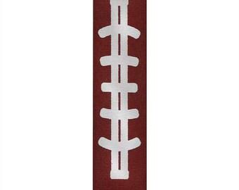 "3"" Brown Football Grosgrain Ribbon (3 inch Grosgrain) Great for Cheer & Hair Bows!"