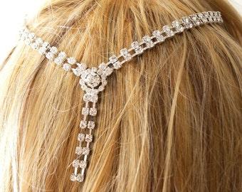 Bridal Headband, Bridal Wedding Headband,  Rhinestone Crown, Wedding Trends Hair Halo, Rhinestone