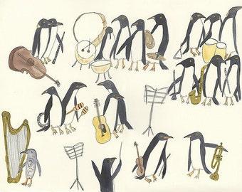 Unorganized Orchestra.  Limited edition print by Vivienne Strauss.