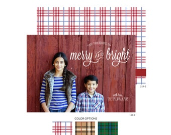 Holiday Photo Cards - Merry & Bright -- Mirabelle Creations