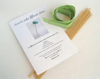 flower stem kit, craft kit, how to