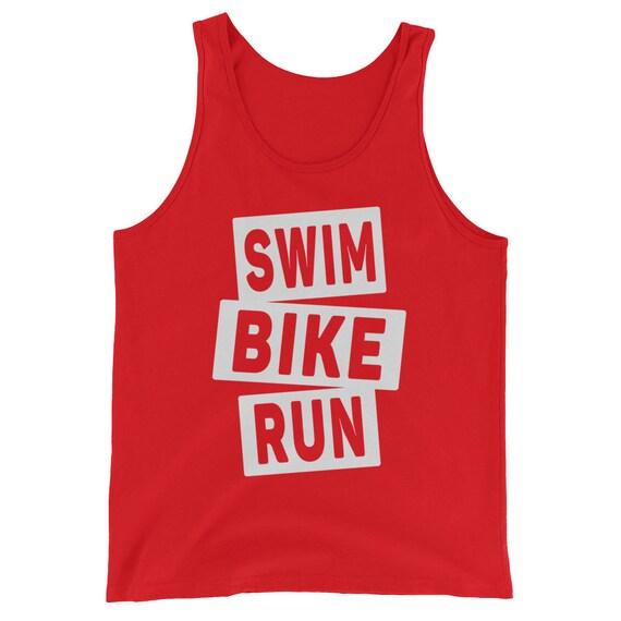 Unisex Swim Bike Run Tank Top - Triathlon Tank Top