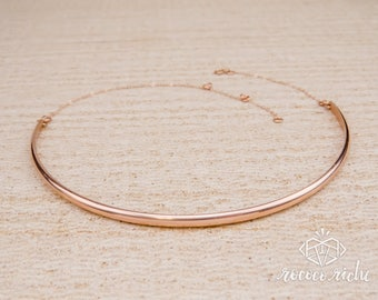 Rose Gold Choker – Simple Gold Choker – Rose Gold Necklace – Minimal Choker Necklace – Basic Gold Choker – Simple Choker – Basic Necklace
