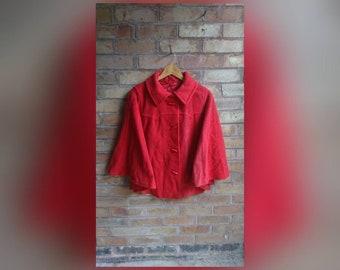 Vintage red cape coat