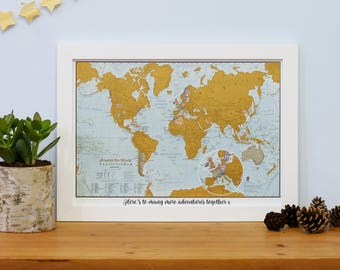 Scratch the world scratch off places you travel map print scratch the world travel edition map print valentines day home gift for gumiabroncs Gallery
