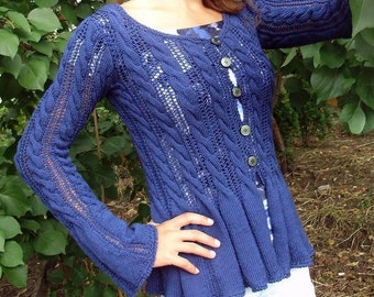 Blue jacket for women in spring and summer