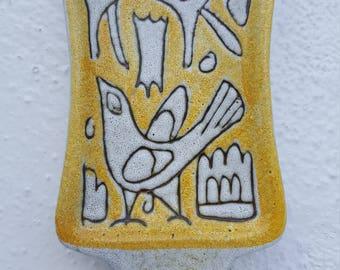 Italian Ceramic  Wall Hanging .
