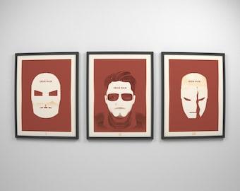 Iron Man ~ Movie Posters, Marvel, Avengers, Infinity War, Civil War, Art Print, Wall Art, Wall Decor, Gift for Him, Boyfriend Gift