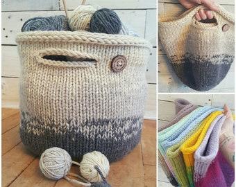 Knitters Project Bag - Storage Basket for Knitter - Project Bag for Knitting -  Gift for Knitter - Knitters Storage Basket - Gift for Her