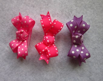 "Infant bows,Bows, Fine hair bows, pet bows, bows for babies, baby bows, 2"" bows for babies (any 3)"