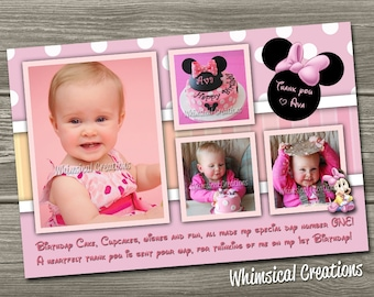 Minnie Mouse Thank You Card (Digital File)