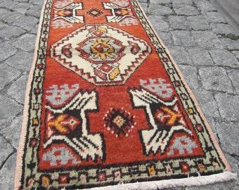 small oushak rug , gift for home, doormat rug, small Oushak rug , SR32