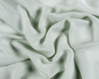 Sage Silk Double Georgette, Fabric By The Yard