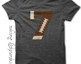 Sports Number Iron on Transfer - Iron on Football Shirt / Football Mom Shirt / Toddler Football Jersey / Sports Birthday Party Print IT450