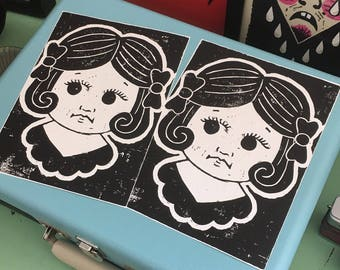 Doll Lino Print
