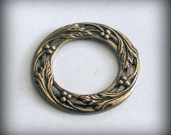 LuxeOrnaments Oxidized Brass Flat Porthole Frame (1 pc) B843X-VJS S-5966
