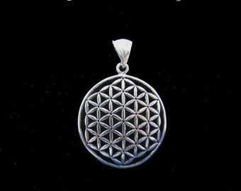 Original Flower of Life Pendant Sterling Silver