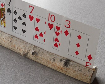 Playing Card Holder Natural Wooden Birch Branch