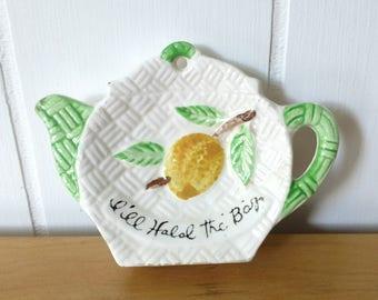 vintage ceramic tea bag holder Japan