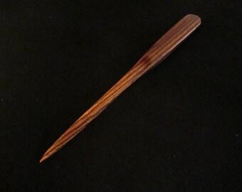 Zebra wood letter opener