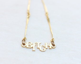 Delicate Curse Word Necklace - The B Word