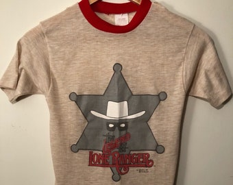 Vintage 1981 The Legends of The Lone Ranger promo shirt boys 12-14
