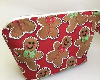 Gingerbread Man Medium Knitting Project Bag