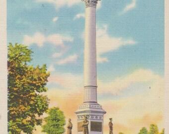 York, Pennsylvania, Penn Common,  Soldiers and Sailors Monument - Linen Postcard - Unused (YY)