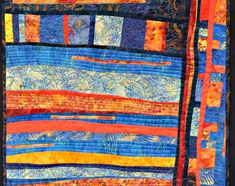 A  wall hanging, contemporary art quilt for sale.