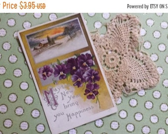 ON SALE Lovely Antique New Years Post Card