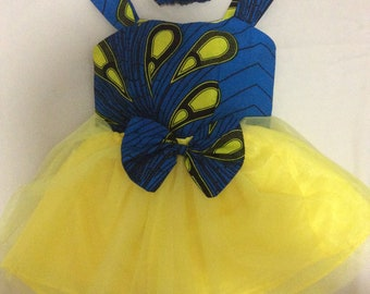 3 PieceAfrican Kitenge and Tulle Set