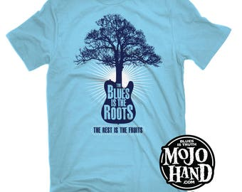 Blues is the Roots XL t-shirt from mojohand.com - Muddy Waters / Willie Dixon - Blues guitar gifts