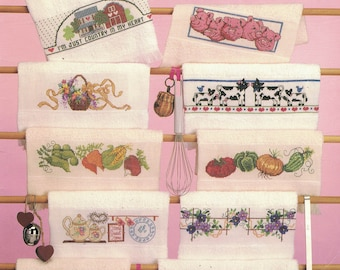 Kitchen Towels  22 Cross Stitch Borders for Fingertip  Towels - Cross Stitch Patterns