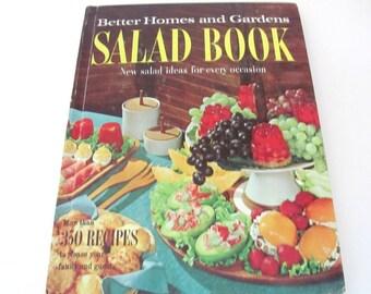 Vintage Cookbook, 1950's Better Homes and Gardens Salad Book, Vintage Recipes, Salad Recipes, 1950's Recipes, Old Cookbook