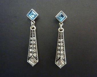 Art Deco Earrings Great Gatsby Earrings Vintage Earrings Art Nouveau Earrings Downton Abbey Downtown Abbey Bridal Earrings Wedding Earrings