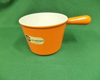 Vintage Le Creuset, Le Creuset Saucepan, Le Creuset, Orange Le Creuset, Windsor Pot, Fondue Pot, Le Creuset Pan, 16cm (Ref 249F)