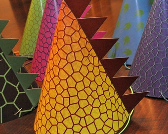 Adorable Dinosaur Party Hats with Scales - Printable