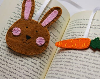 Easter bunny bookmark, rabbit bookmark, Easter gift, Easter bookmarks, Animal bookmark, Bunny gift, Felt Easter bunny, Planner bookmark