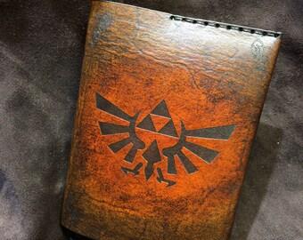 Leather Zelda passport cover wallet
