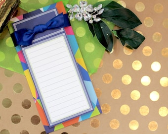 Anna Griffin List  Pad with Bow Asbury Colorific Collection