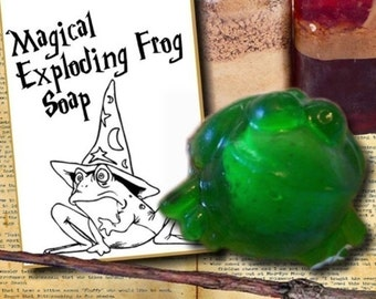 Children's Birthday Party Favors - EXPLODING FROG SOAPS - Baby Shower Favors - Harry Potter Fans