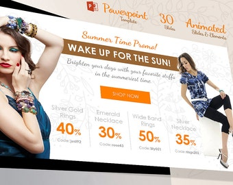 Beautiful Animated Powerpoint Template  for Handmade, Fashion and Creative Company