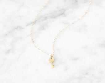Tiny Key Necklace - 1021