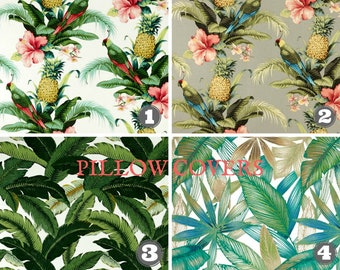 Outdoor Pillow Covers, Tropical Fabric, Tommy Bahama Fabric, Pineapple Fabric, Beach Decor, Summer Decor Choose Size and Quantity