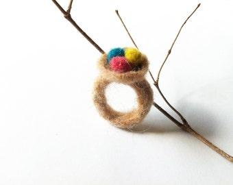 Feltef Bird nest ring jewelry