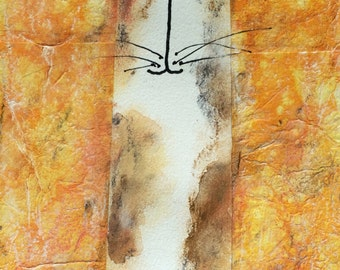 Original Art Golden Cat
