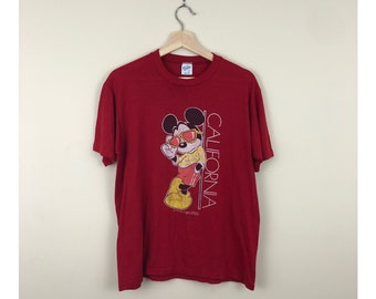 Vintage 80's Velva Sheen Mickey Shirt